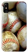 Pile Or Stack Of Baseballs For Playing Games IPhone Case