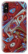 Pillars In The Sky Abstract #4 IPhone Case