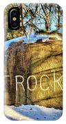 Pilot Rock Iowa IPhone Case