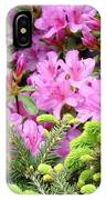 Pine Conifer Pink Azaleas 30 Summer Azalea Flowers Giclee Art Prints Baslee Troutman IPhone Case