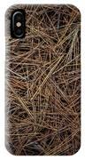 Pine Needles On Forest Floor IPhone X Case