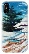Pine Tree Along The Country Road IPhone Case