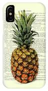 Pineapple In Color Illustration IPhone Case by Madame Memento