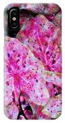 Pink Caladium IPhone Case
