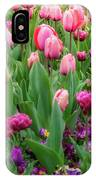 Pink And Purple Tulips At The Spring Floriade Festival IPhone X Case