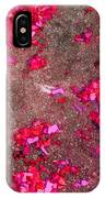 Pink And Red Firecracker Debris Abstract IPhone Case