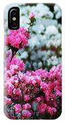 Pink And White Azelas IPhone Case