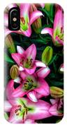 Pink And White Lilies IPhone Case