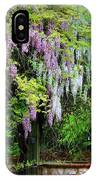 Pink And White Wisterias IPhone Case