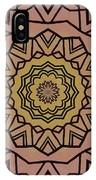 Pink And Yellow Kaleidoscope 1 IPhone Case