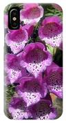 Pink Bell Flowers, Close-up. Foxglove 02 IPhone Case