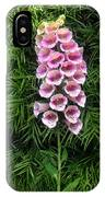 Pink Bell Flowers. Foxglove 02 IPhone Case