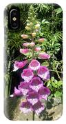 Pink Bell Flowers. Foxglove 03 IPhone Case