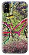 Pink Bicycle IPhone Case