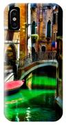 Pink Boat And Canal IPhone Case
