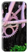 Pink Bycycle Resting On A Tree IPhone Case