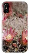 Pink Cactus Flowers 2 IPhone Case