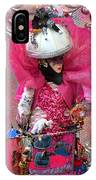 Pink Carnival Costumed Lady IPhone Case