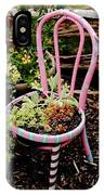 Pink Chair Planter IPhone Case