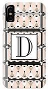 Pink Champagne Deco Monogram  D IPhone Case