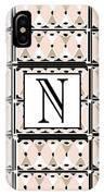 Pink Champagne Deco Monogram  N IPhone Case