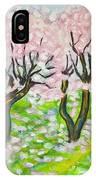 Pink Cherry Garden In Blossom IPhone Case