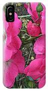 Pink Climbing Roses - Digitally Enhanced IPhone Case