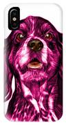 Pink Cocker Spaniel Pop Art - 8249 - Wb IPhone Case