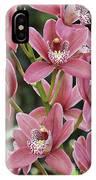 Pink Cymbidium Orchid #3 IPhone Case