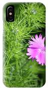 Pink Dianthus With Nigella Buds IPhone Case
