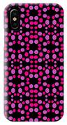 Pink Dots Pattern On Black IPhone X Case