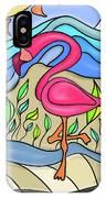 Pink Flamingo Glassy IPhone Case