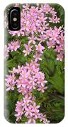 Pink Flower Cross IPhone Case