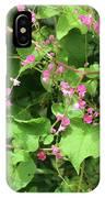 Pink Flowering Vine1 IPhone Case