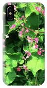 Pink Flowering Vine2 IPhone Case
