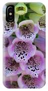 Pink Foxglove  IPhone Case