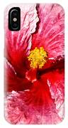 Pink Hibiscus Inspired By Georgia O'keefe IPhone Case