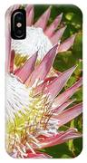 Pink King Protea Flowers IPhone X Case