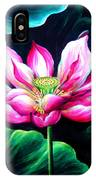 Pink Lotus From L.a. City Park IPhone Case