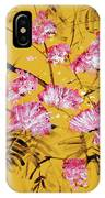 Pink Mimosa Tree Dark Yellow 201642 IPhone Case