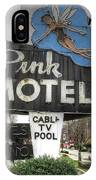 Pink Motel Sign Maggie Valley North Carolina IPhone Case
