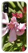 Pink Oleander Iv IPhone Case