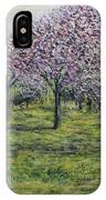 Pink Orchards Garden IPhone Case