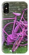 Pink Painted Bikes And Old Wall IPhone Case