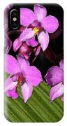Pink Painted Orchids IPhone Case