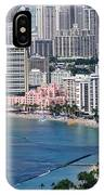 Pink Palace Waikiki Honolulu IPhone Case
