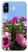 Pink Petunias In The Sky IPhone Case