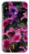 Pink Petunias IPhone Case