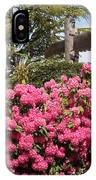 Pink Rhododendrons With Totem Pole IPhone Case