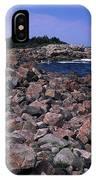 Pink Rock Shoreline IPhone Case